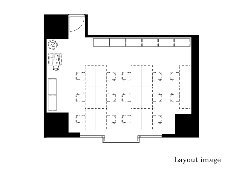 office 46.00㎡/13.92坪 Layout image