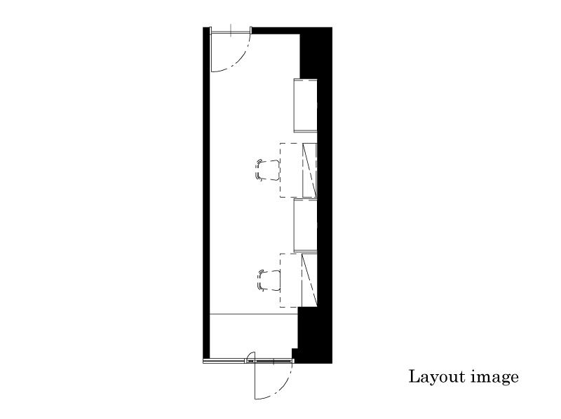office#205  16.07㎡/4.86坪 Layout image